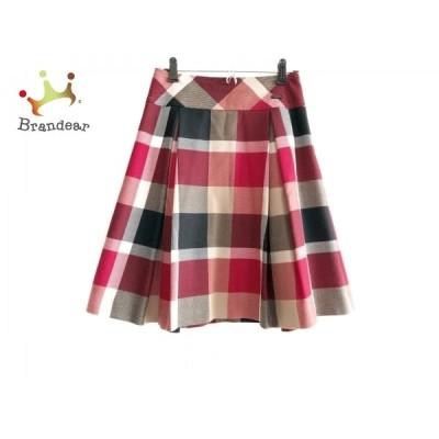 ブルーレーベルクレストブリッジ スカート サイズ36 S レディース - 黒×レッド×マルチ 新着 20210131