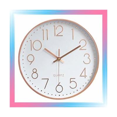 ピンク HOMEMOM 掛け時計 インテリア 連続秒針 壁掛け時計 静音
