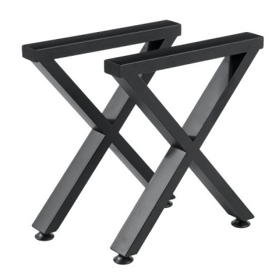 40CMテーブルレッグコーヒーダイニングテーブルX字型スチール工業用スタンド金属足