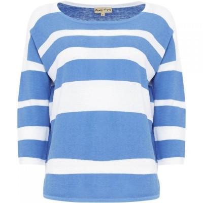 フェーズ エイト Phase Eight レディース ニット・セーター トップス Brushstroke Wide Stripe Megg Bright Blue