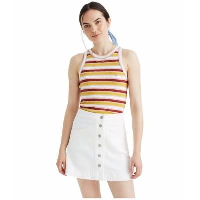 メイドウェル スカート ボトムス レディース White Denim Metropolis Skirt Tile White