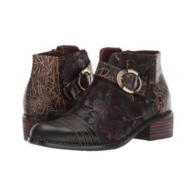 L'Artiste by Spring Step ラーティスト レディース 女性用 シューズ 靴 ブーツ アンクルブーツ ショート Georgiana - Black Multi