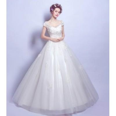 高級ウェディングドレス結婚式ドレス花嫁ドレス 超豪華なトレーンドレス マーメイドライン ワンピース ナイトドレス SS~XXXL  高級