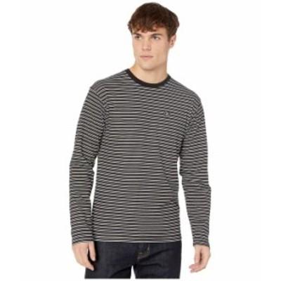 バンズ メンズ シャツ トップス Striped Long Sleeve T-Shirt Black/White