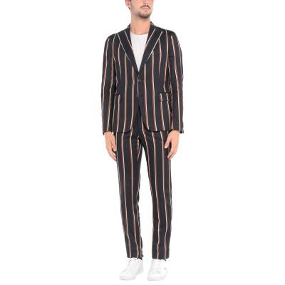 ブライアン デールズ BRIAN DALES スーツ ダークブルー 48 コットン 46% / 麻 39% / アクリル 11% / ポリウレタン
