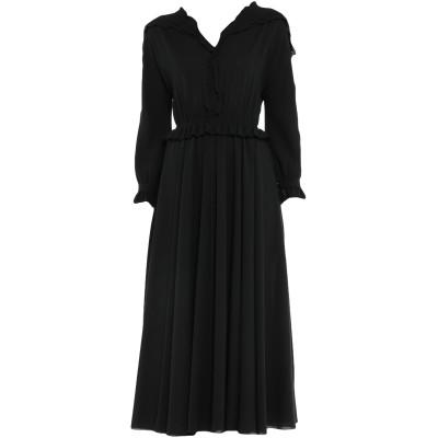 ボッテガ・ヴェネタ BOTTEGA VENETA 7分丈ワンピース・ドレス ブラック 44 シルク 100% 7分丈ワンピース・ドレス