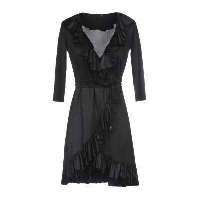 MARIAGRAZIA PANIZZI ミニワンピース&ドレス ブラック 42 アセテート 92% / ポリウレタン 8% ミニワンピース&ドレス