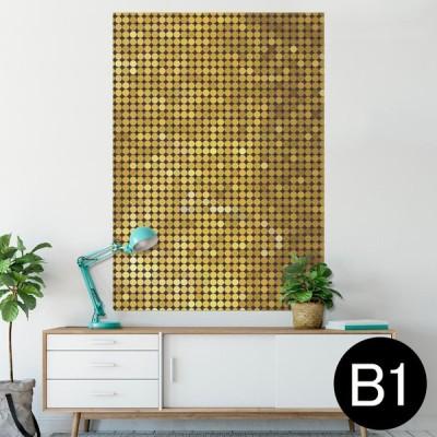ポスター ウォールステッカー シール式 728×1030mm B1 写真 壁 インテリア おしゃれ wall sticker poster ゴールド ギラギラ 001949