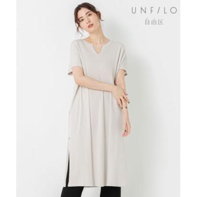 自由区 Unfilo/アンフィーロ ジユウク 【UNFILO】SLOW VISCOSE チュニック アイボリー系 44