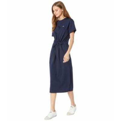 ラコステ レディース ワンピース トップス Long Short Sleeve T-Shirt Dress Navy Blue/Navy