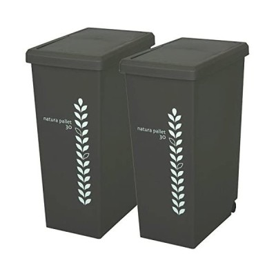平和工業 ゴミ箱 スライドペール 30L 2個セット チョコレートブラウン (チョコレートブラウン 30L)
