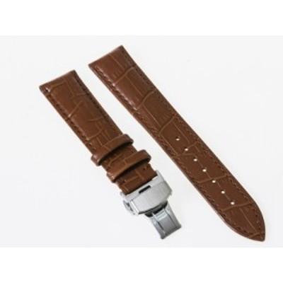 ファッション シンプル 腕時計 交換用 パーツ 合金製 Dバックル バタフライバックル/ダブルタイプ/幅19mm#ブラウン【新品/送料込み】