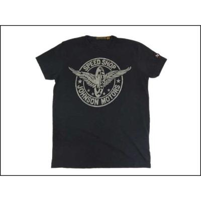 JOHNSON MOTORS/ジョンソンモータース S/S Tシャツ「スピードホイール」ヴィンテージブラック