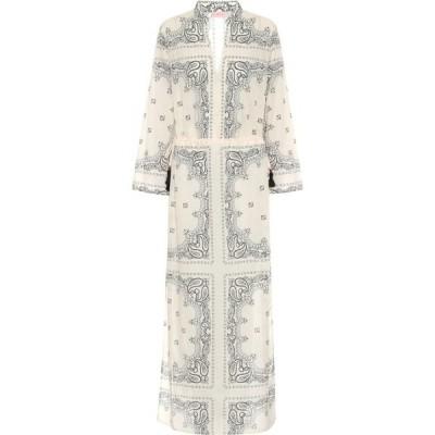 トリー バーチ Tory Burch レディース ワンピース マキシ丈 ワンピース・ドレス paisley cotton voile maxi dress Ivory Americana Bandana