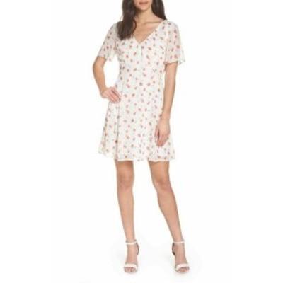 ファッション ドレス 19 Cooper NEW White Womens Size Medium M Floral V-Neck A-Line Dress