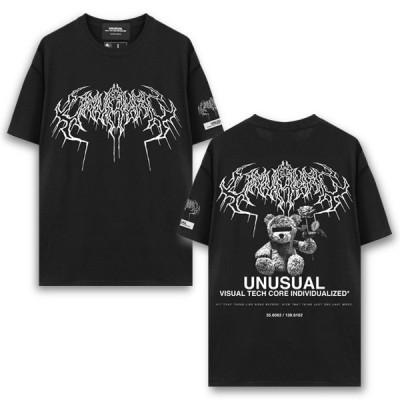 UNUSUAL【アンユージュアル】DEATH BEAR LOGO T-SHIRT【デスベアーロゴTシャツ】/ BLACK @5000