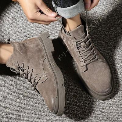 メンズ ブーツ チャッカブーツ ショートブーツ カジュアルシューズ スエード 疲れない 大きいサイズ レースアップ ハイカット 歩きやすい 柔らかい 屈曲性