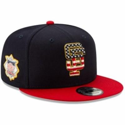 New Era ニュー エラ 帽子 キャップ New Era San Francisco Giants Navy/Red 2019 Stars & Stripes 4th of July 9FIFTY Adjustable Hat