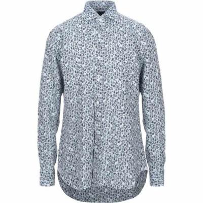 バルバ BARBA Napoli メンズ シャツ トップス Linen Shirt Sky blue