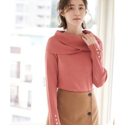 ROPE' PICNIC / ゆるっとした襟が大人可愛い。クロスオフショルダートップス WOMEN トップス > ニット/セーター