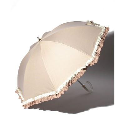 【ムーンバット】 LANVIN en Blue(ランバン オン ブルー)晴雨兼用日傘 グログランフリル ユニセックス ベージュ メーカー指定サイズ MOONBAT