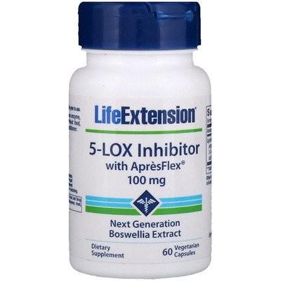 ApresFlex(アプレスフレックス)配合5-リポキシゲナーゼ阻害剤、100 mg、植物性カプセル60粒