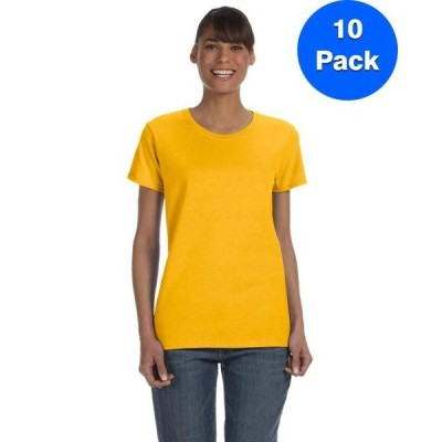 レディース 衣類 トップス Womens 5.3 oz. Heavy Cotton Missy Fit T-Shirt 10 Pack Tシャツ