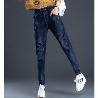 【セール】DBESKSPA8020デニムパンツ レディース  ウェストゴム   美脚デニム 大きいサイズ ジーパン ジーンズ 春夏秋  ボトムス