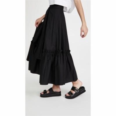 ロゼッタゲティー Rosetta Getty レディース スカート ラップスカート Gathered Hem Wrap Skirt Black
