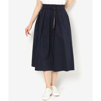 スカート ベルト付きギャザースカート