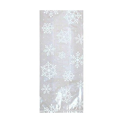 Christmas Snowflake Multicolored Plastic Party Bags, 20 Ct.