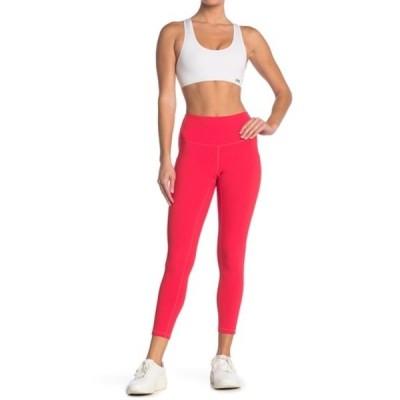 ゼットバイゼラ レディース カジュアルパンツ ボトムス Daily High Waist Ribbed Pocket Leggings RED HIBISCUS