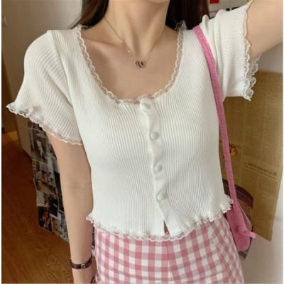 tシャツ レディース 半袖 韓国ファッション 白 おしゃれ ティシャツ トップス カットソー 夏  ロンティ ロンT 大きいサイズ 1329