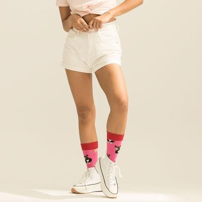 LAKING.GIRLS-極顯瘦三釦高腰牛仔短褲