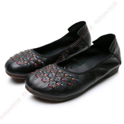 ラウンドトゥ パンプス ローヒール 走れる フラットパンプス ぺたんこ 黒 パンプス レディース 歩きやすい 痛くない パンプス 婦人靴 フラットシューズ