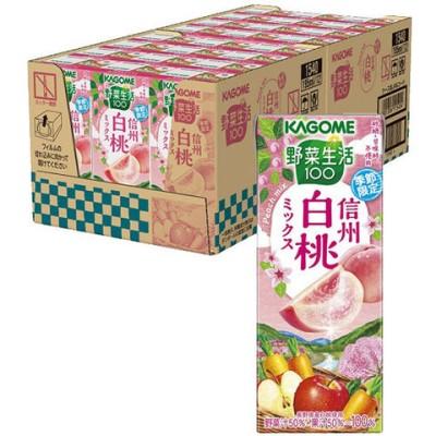 野菜生活100 信州白桃ミックス (195ml*24本入)