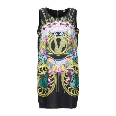VERSACE ミニワンピース&ドレス ブラック XS ポリエステル 90% / ポリウレタン 10% ミニワンピース&ドレス