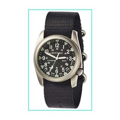 【新品】Bertucci A-4T Super Yankee Illuminated Watch - Black - Black Nylon, 44 mm(並行輸入品)