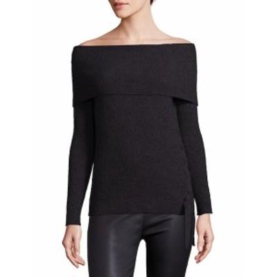 ロワ レディース トップス シャツ Le Sexy Ribbed Cashmere Off-The-Shoulder Pullover