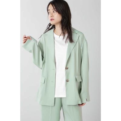 サテンジャケット ライトグリーン