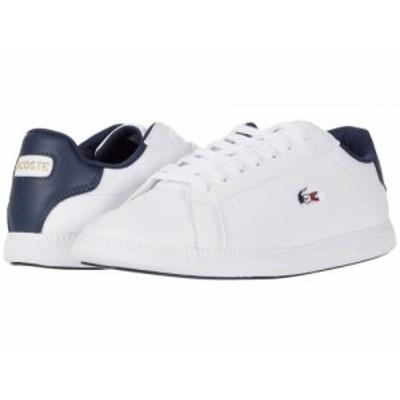 Lacoste ラコステ レディース 女性用 シューズ 靴 スニーカー 運動靴 Graduate Tri 1 White/Navy/Red【送料無料】