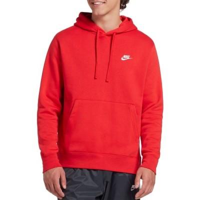 ナイキ Nike メンズ パーカー トップス Sportswear Club Fleece Hoodie (Regular and Big & Tall) University Red/White