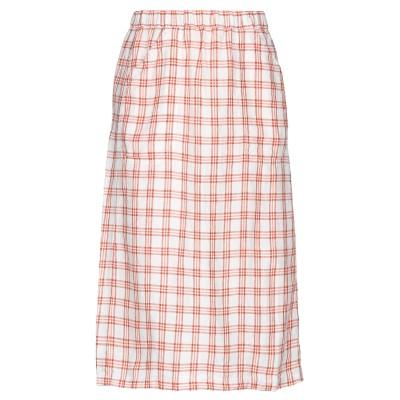 マッシモ・アルバ MASSIMO ALBA 7分丈スカート ホワイト 38 麻 100% 7分丈スカート