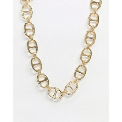 ピーシーズ Pieces レディース ネックレス ジュエリー・アクセサリー chunky link necklace in gold ゴールド