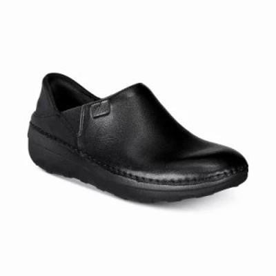 フィットフロップ スリッポン・フラット Superloafer Slip-On Sneakers Black