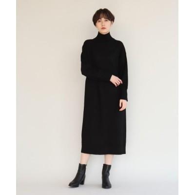 aquagirl(アクアガール) 【洗える】ハイネックバックベンツニットワンピ