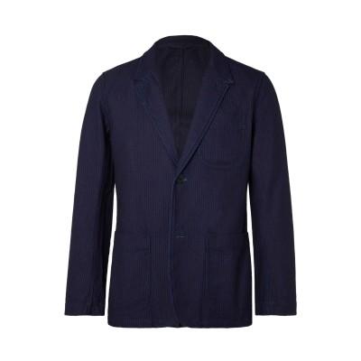 ブルー・ブルー・ジャパン BLUE BLUE  JAPAN テーラードジャケット ダークブルー S コットン 100% テーラードジャケット