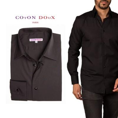 柄シャツ シャツ メンズ カジュアルシャツ 長袖 ブランド お洒落 シック 黒シャツ ブラックシャツ m92ad1803black1