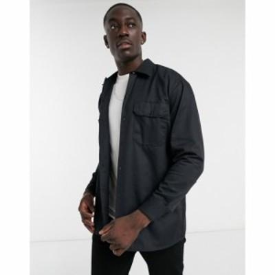 ディッキーズ Dickies メンズ シャツ トップス long sleeve work shirt in black ブラック