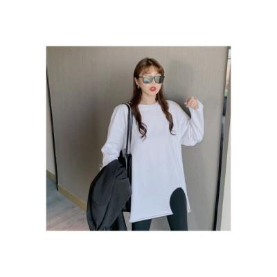 【送料無料】ネット レッド 不規則な 白いTシャツ 女 秋 韓国風 何でも似合う ル   346770_A64105-2041543